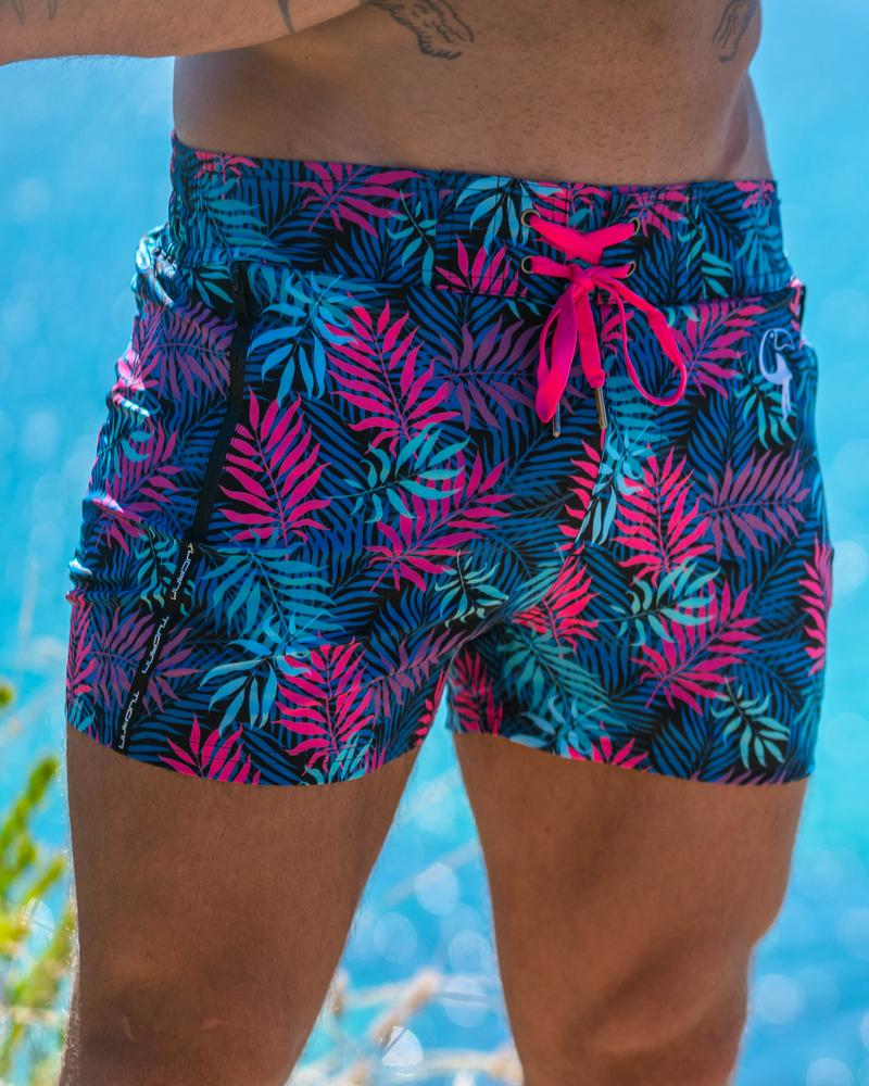Fly Fern Black Swim Shorts Shorts / Board shorts Tucann