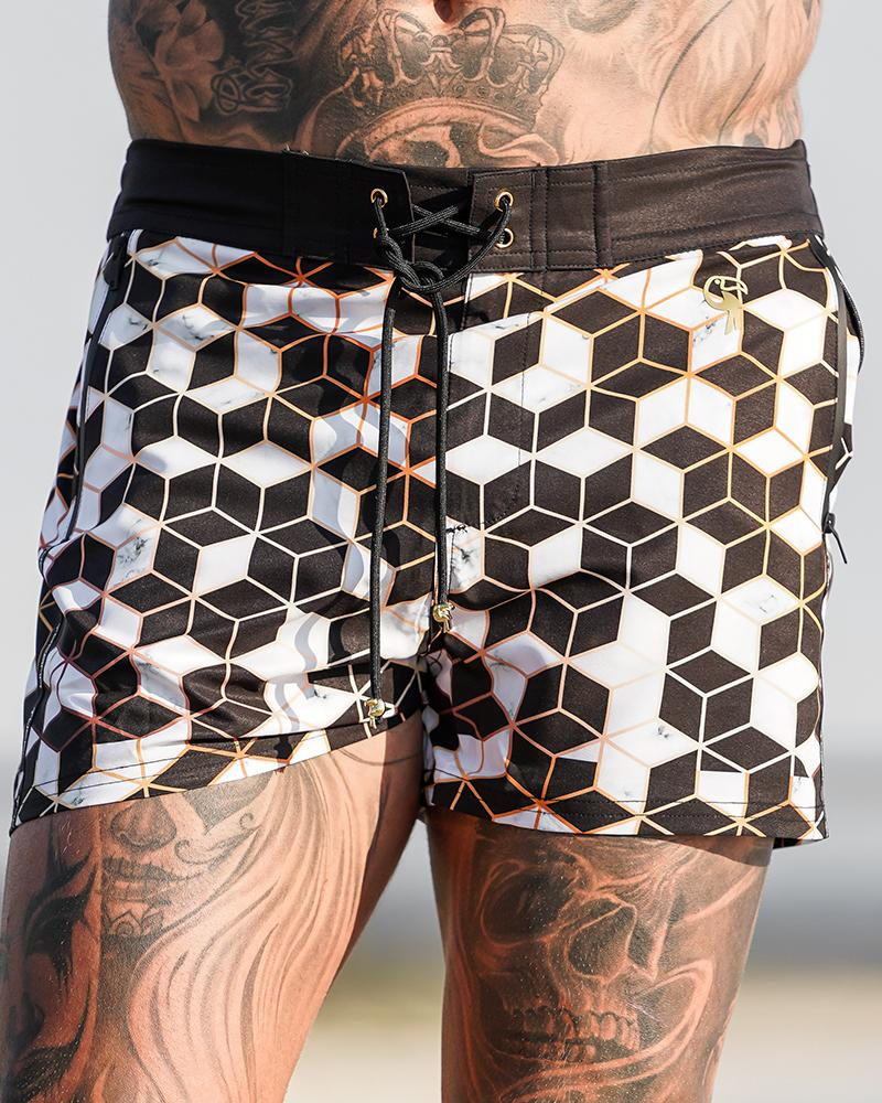 Golden Tiles Shorts / Board shorts Tucann