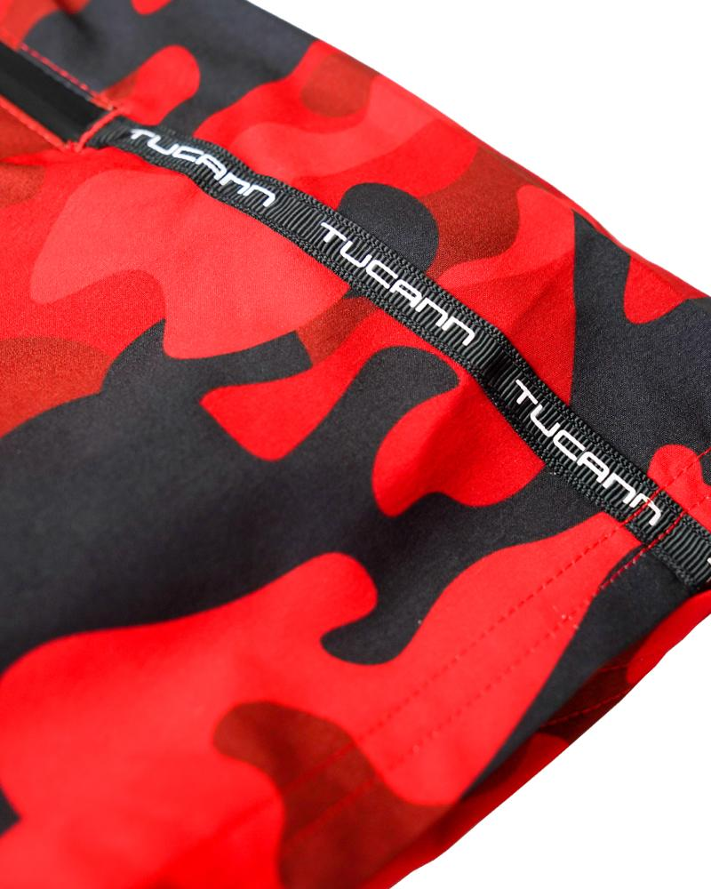 Red Camo Swim Shorts Shorts / Board shorts Tucann
