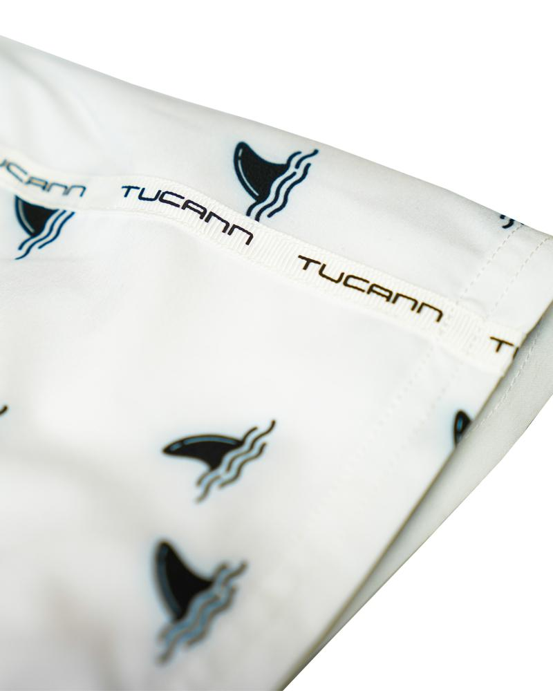 The Fins White Swim Shorts Shorts / Board shorts Tucann