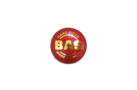 BAS Hard Pitch 156g Red Cricket Ball | blitzsports.com.au