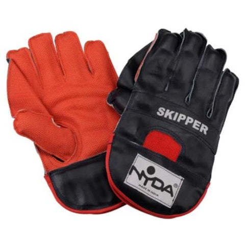 NYDA Leather Skipper Wicket Keeping Gloves | blitzsports.com.au