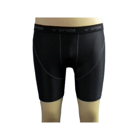 SFIDA Men's Compression Half Short - Black | Blitzsports.com.au