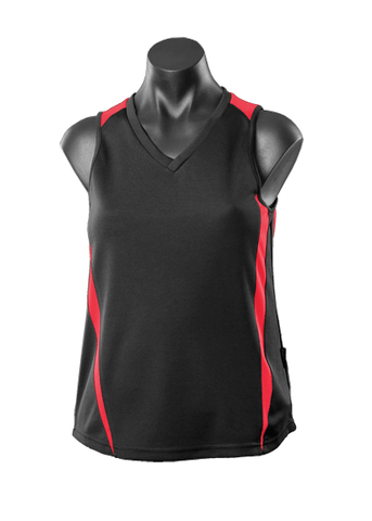 Eureka Men's Athletic Singlet Black/Red Size 16