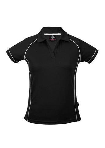 Paterson Ladies Polo Black/Teal