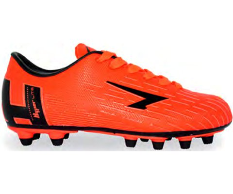 SFIDA Velocity Orange/Black Junior Football Boots | blitzports.com.au