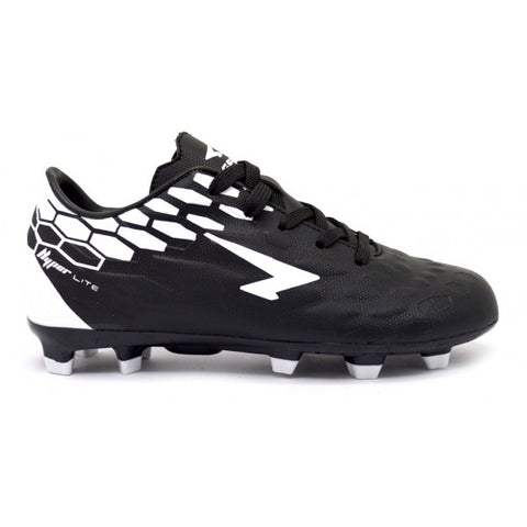 SFIDA Stealth Black/White Junior Football Boots | blitzsports.com.au