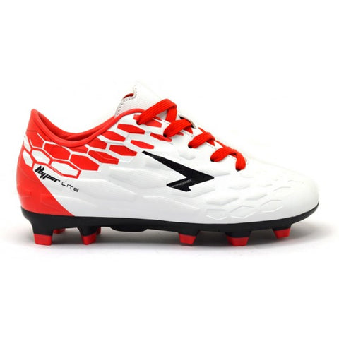SFIDA Adult Stealth White/Red Football Boots | blitzsports.com.au