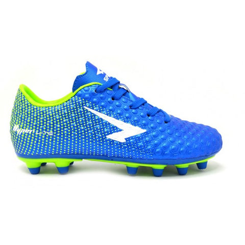 SFIDA Typhoon Royal/Lime Junior Football Boots | blitzsports.com.au