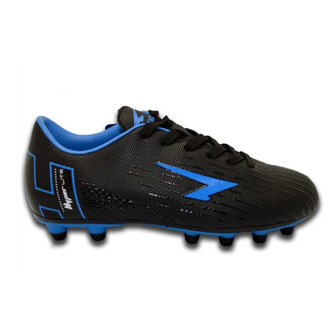 SFIDA Velocity Black/Royal Junior Football Boots | blitzsports.com.au