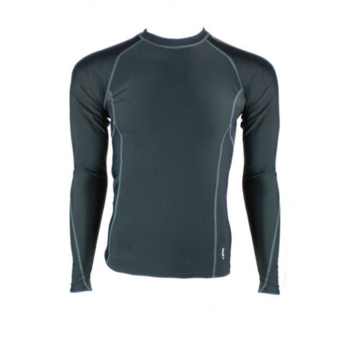SFIDA Men's Long Sleeve Compression Top - Black | Blitzsports.com.au