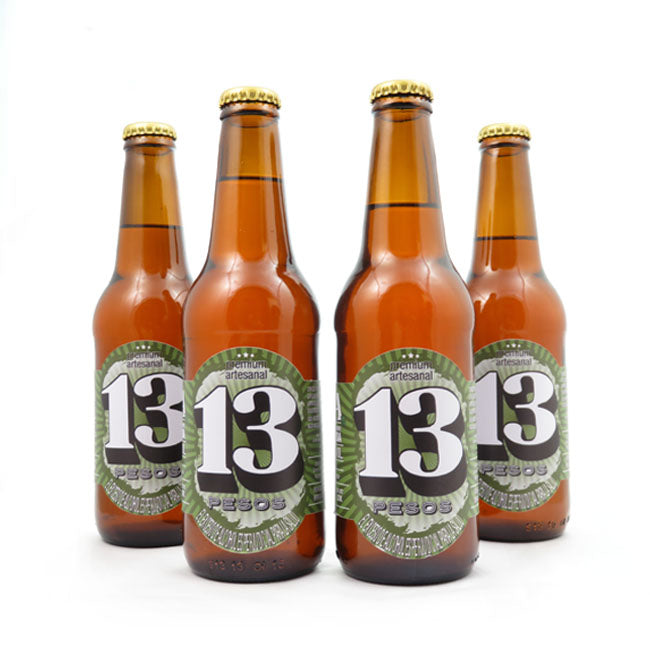4 PACK - Cerveza artesanal - Beer Happy - 13 PESOS IPA - 330 ML - 6°