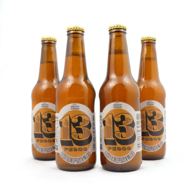 4 PACK - Cerveza Artesanal - Beer happy 13 PESOS HEROICA - 330 ML - 5.2°