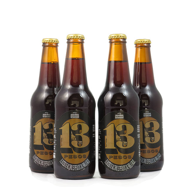 4 PACK - Cerveza Artesanal - Beer Happy - 13 PESOS STOUT 330 ML - 6º