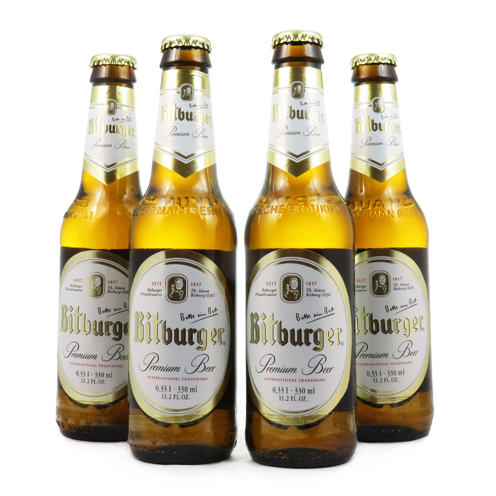 4 PACK - Cerveza importada - beer happy - alemana -  BITBURGUER - PREMIUM BEER - 330 ML - 4,8°