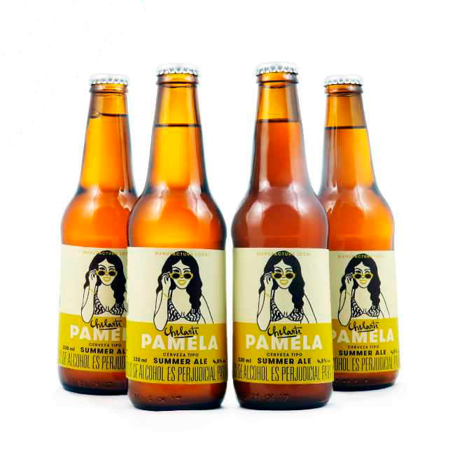 4 PACK - Cerveza Artesanal beer happy - CHELARTE PAMELA - SUMMER ALE  330 ML - 4,8º