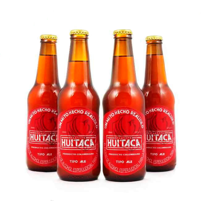 4 PACK - Cerveza Artesanal - Beer Happy - HUITACA - BITTER - 330 ML - 5°
