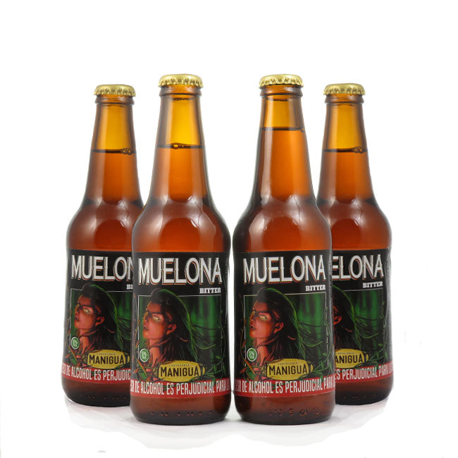 4 PACK - Cerveza Artesanal - Beer Happy - MANIGUA MUELONA - 330 ML - 5º