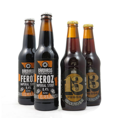 BÁRBAROS FEROZ IMPERIAL STOUT 356 ML - 13 PESOS STOUT 330 ML