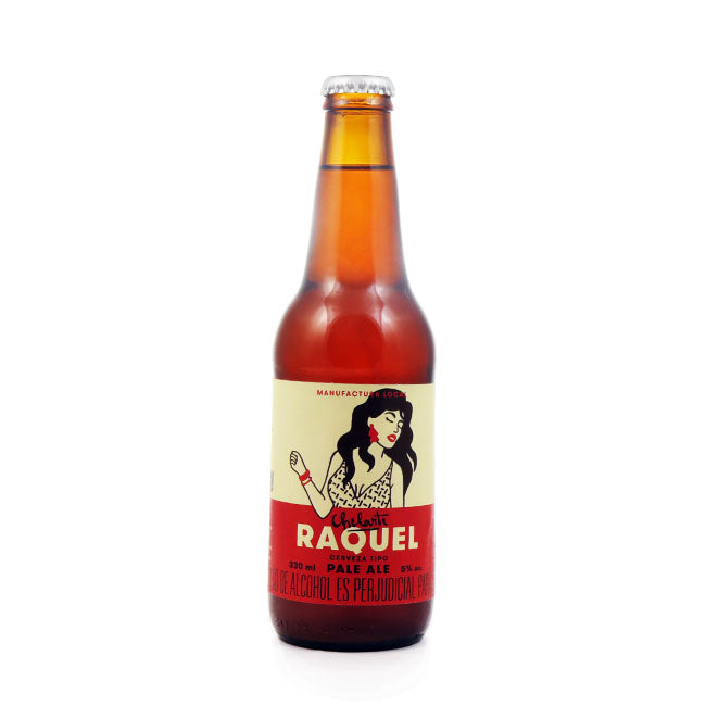 4 PACK - Cervesa artesanal beer happy - CHELARTE RAQUEL - PALE ALE  330 ML - 5º