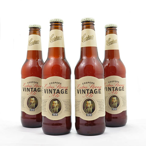 4 PACK - Cerveza Importada - Beer Happy - COOPERS VINTAGE EXTRA STRONG ALE - 355 ML - 7,5°