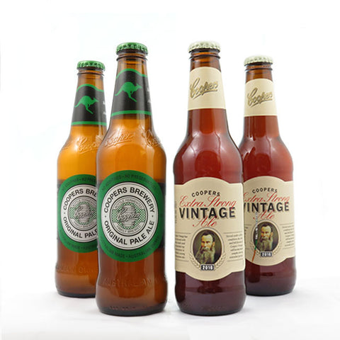 COOPERS ORIGINAL PALE ALE - 375 ML - COOPERS VINTAGE EXTRA STRONG ALE - 355 ML