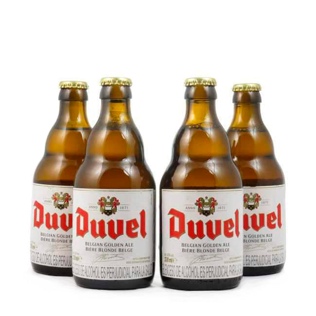 4 PACK - Cerveza Importada - Beer Happy - DUVEL - 330 ML - 8.5°
