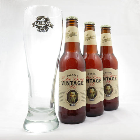 COOPERS VINTAGE EXTRA STRONG ALE + VASO BEERHAPPY