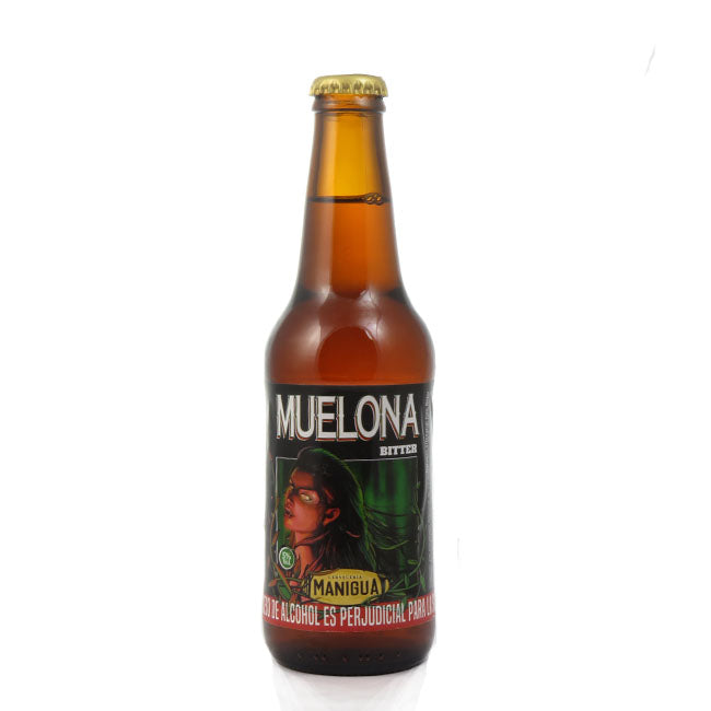 4 PACK Cervezas artesanales beer happy MANIGUA MUELONA - 330 ML - 5º