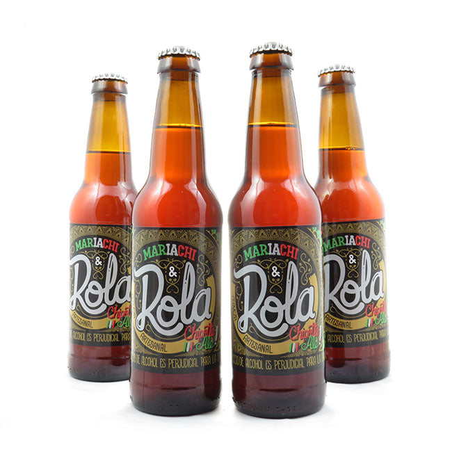 4 PACK - Cerveza Artesanal - Beer Happy - LA ROLA MARIACHI - 350 ML - 4,5°