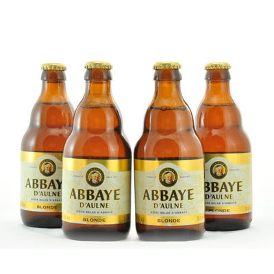 4 PACK - Cerveza Importada - Beer Happy - ABBAYE D'AULNE BLONDE - 330 ML - 6°