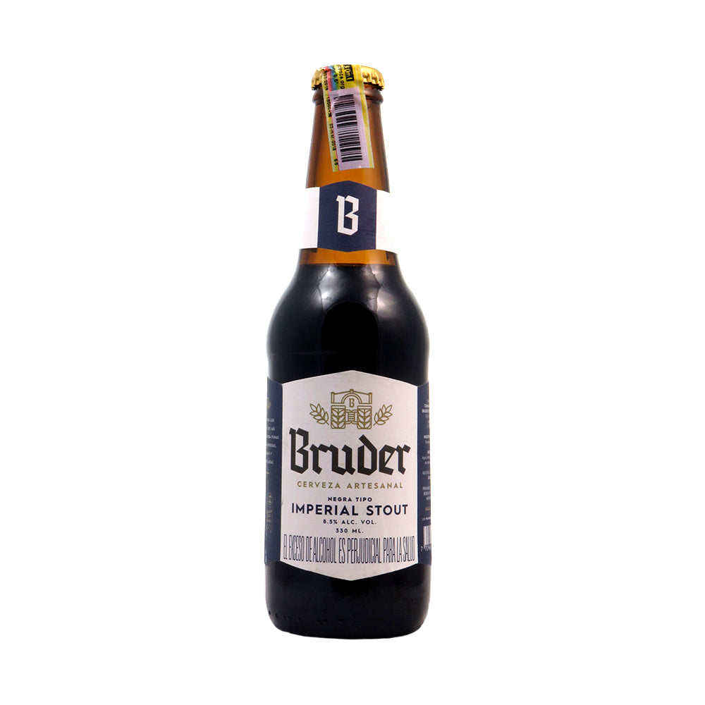 BRUDER - IMPERIAL STOUT 330 ML - 8,5º - beer happy cerveza artesanal boyaca Colombia colombiana