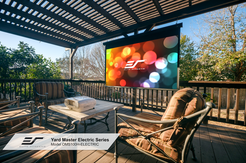 The Yard Master Electric Is Eliteu0027s Outdoor Projector Screen For Patios And  Other Outdoor Spaces. Watch A Movie In The Convenience Of Your Own  Backyard, ...