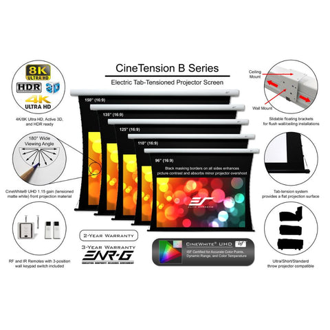Elite Screens CineTension B Series - Electric Screens - Wall/Ceiling
