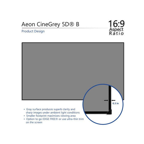 Elite Screens Aeon CineGrey5D B - 4K Edge Zero Projection Screen