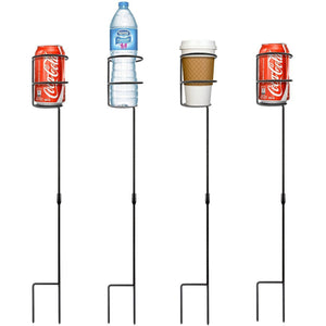 Outdoor Drink Holder Stakes - Set of 4