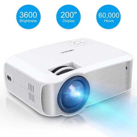 TOPVISION Full HD LED Projector with 3600 Lux