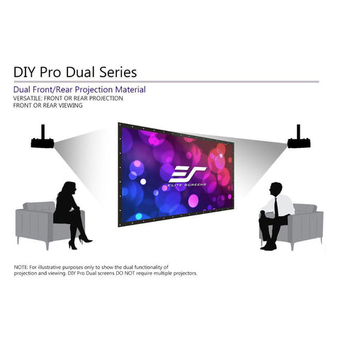 Elite Screens DIY Pro WraithVeil™ Dual - Outdoor Projector Series