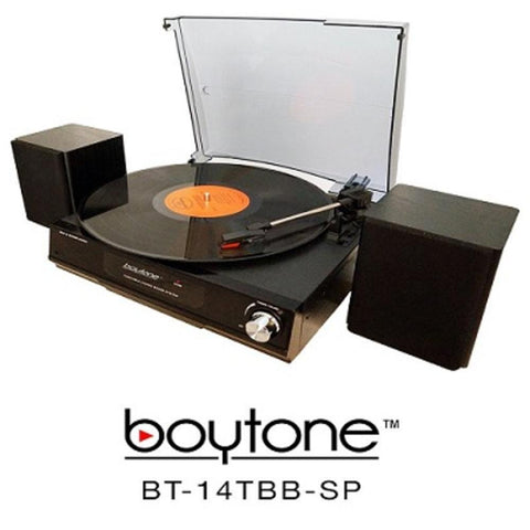 Boytone  3 Speed Stereo 33-45-78 Rpm Turntable With 2 Detachable Speakers