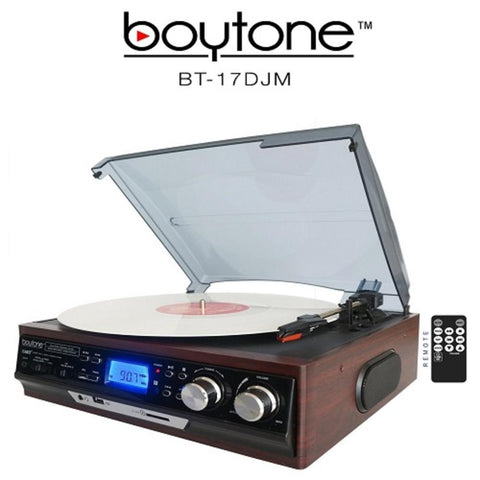 Boytone 3-Speed Stereo Turntable Belt drive with 2 Built in Speakers Digita