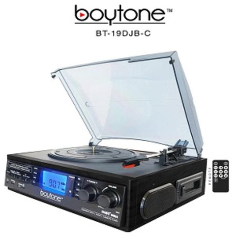 Boytone Bt-19djb-c 3-speed Stereo Turntable - 33-45-78 Rpm With Am-fm Radio