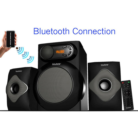 Boytone  Wireless Bluetooth 2.1 Multimedia 40 Watt, Powerful Bass System Wit