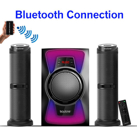 Boytone 2.1 Bluetooth Powerful Home Theater Speaker System, With Fm Radio,
