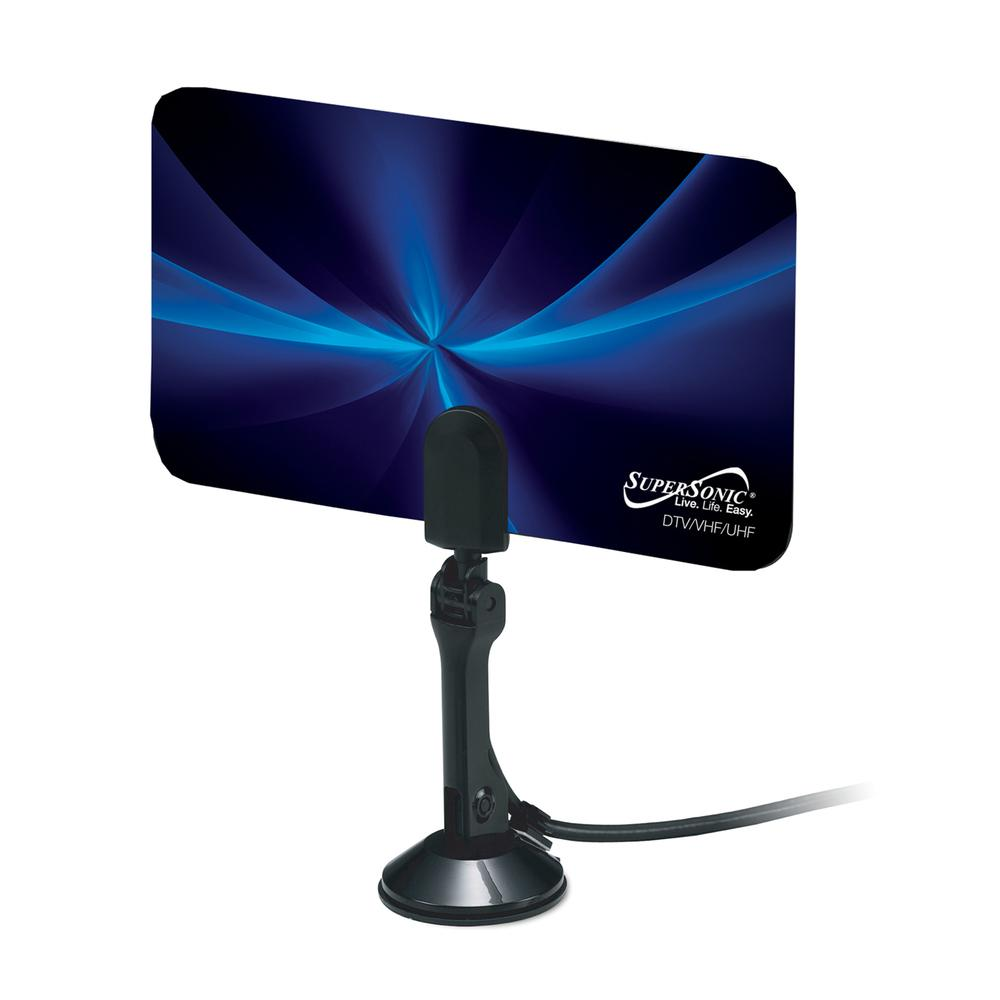Supersonic Hdtv Digital Flat Indoor Antenna