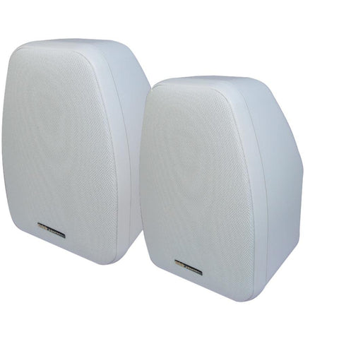 Bic America Adatto 125-watt 2-way 5.25-inch Indoor-outdoor Speakers With Keyholes For Versatile Mounting (white)