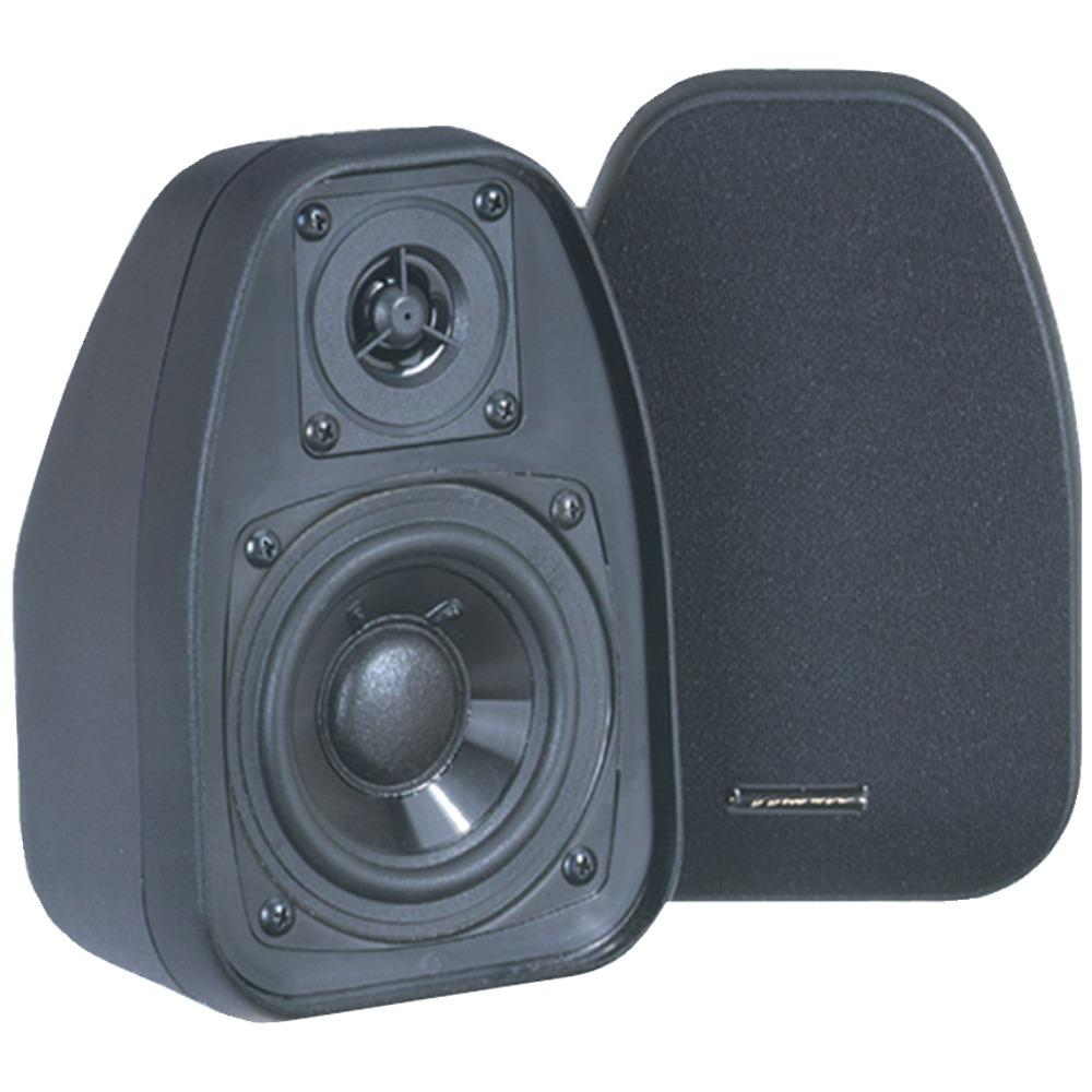 Bic America  125-watt 2-way 3.5-inch Speakers With Keyholes For Versatile Mounting (black)