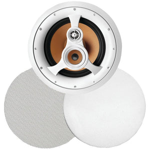 Bic America 250-watt 3-way 10 In-ceiling Speaker With Pivoting Tweeter & Midrange Plus Metal & Cloth Grilles