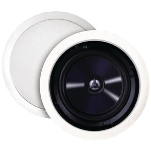 Bic America 125-watt 6.5 Weather-resistant In-ceiling Speakers With Pivoting Tweeters & Metal & Cloth Grilles