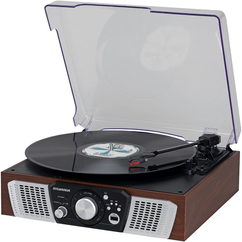 Sylvania Turntable With 2 Built-in Speakers & Usb Playback