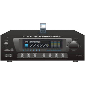 Pyle Home 30-watt Stereo Am-fm Receiver With Dock For Ipod